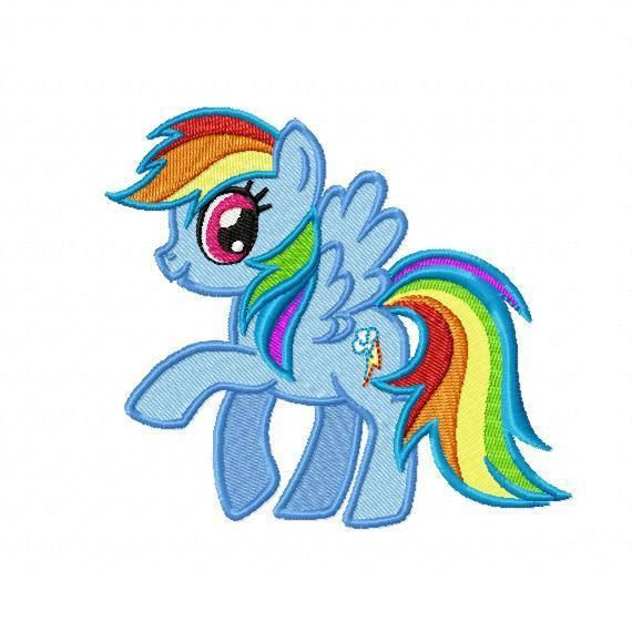 My little pony rainbow dash embroidery design by
