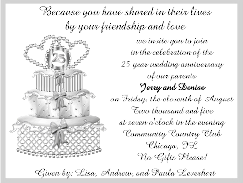 L Invitation Templates      Wedding Anniversary