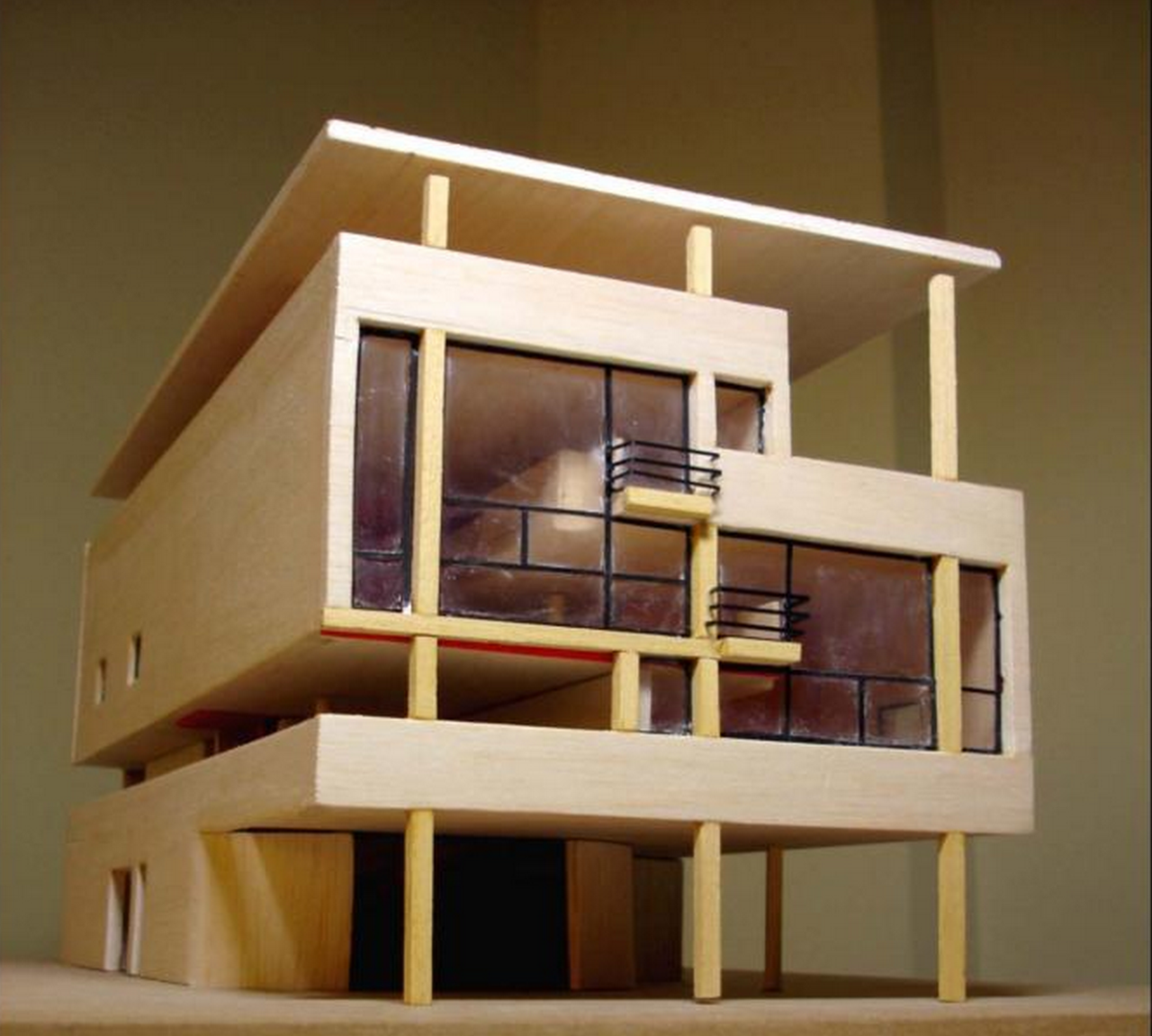 Villa baizeau corbusier architectural models pinterest for Modern house 6x6