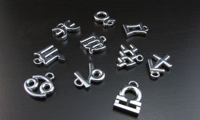 Silver Zodiac-Charm on Groupon Deals
