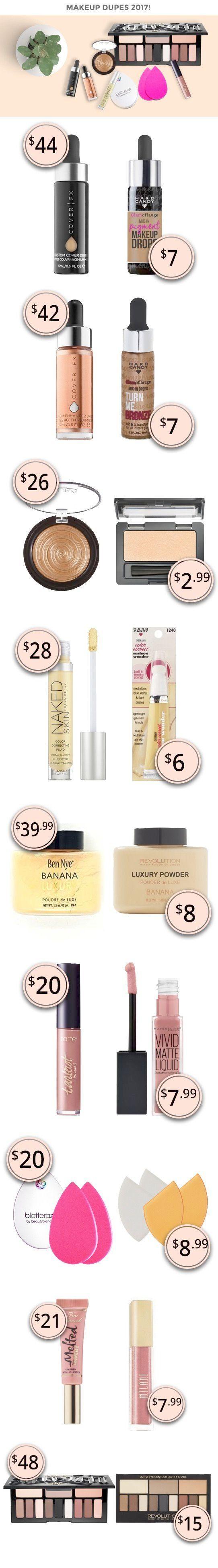 Interesting > Dupe Makeup Revolution! Drugstore makeup