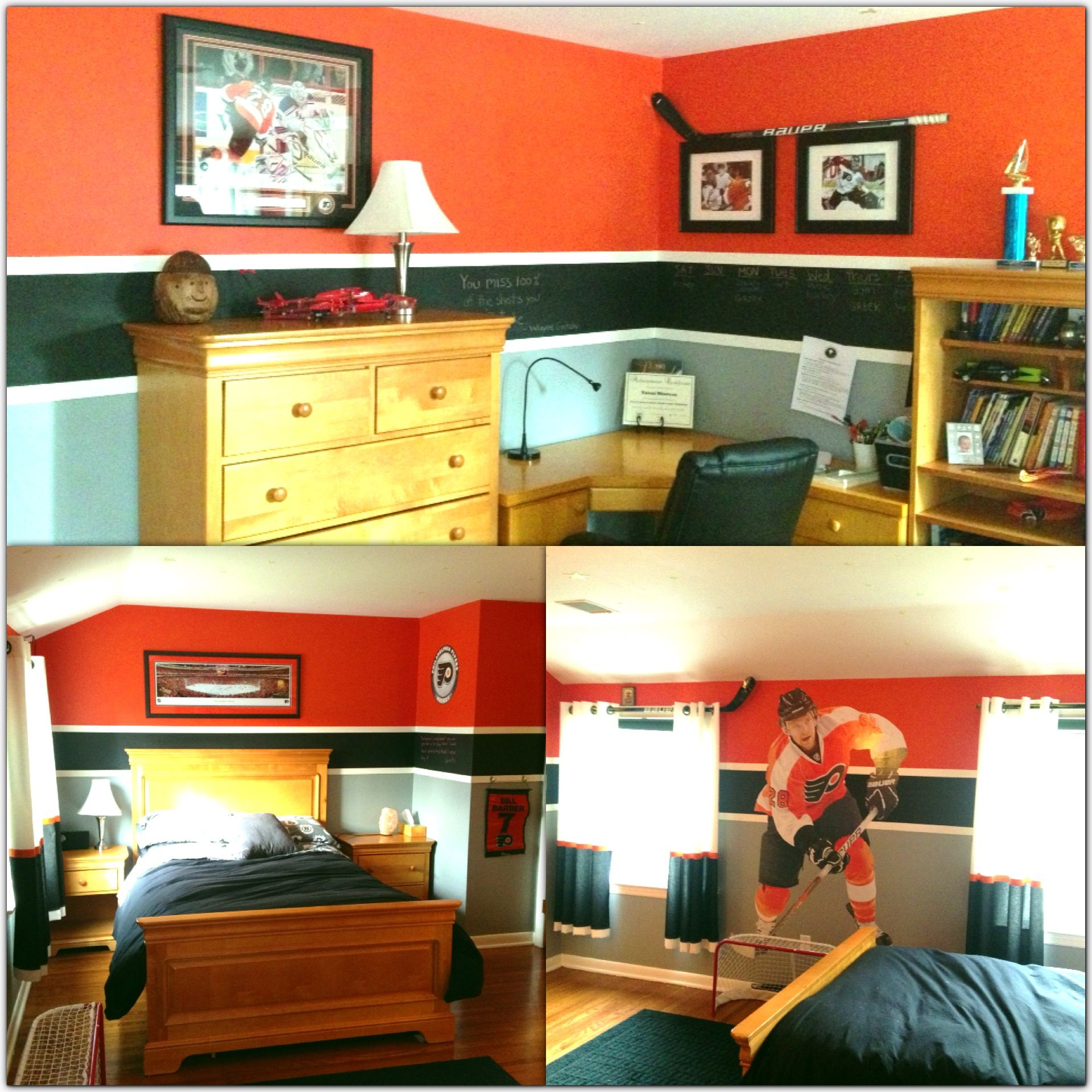 At my friend\'s house and in love with her son\'s bedroom. Hockey ...