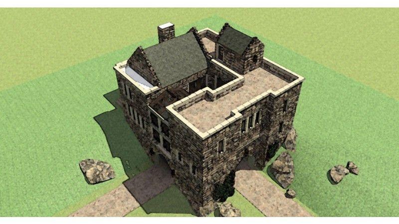 Exterior Roof Castle House Plans Castle Plans Castle House