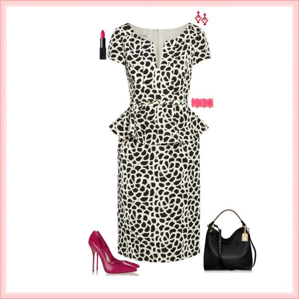A fashion look from January 2015 featuring Oscar de la Renta dresses, Casadei pumps and Reed Krakoff shoulder bags. Browse and shop related looks.