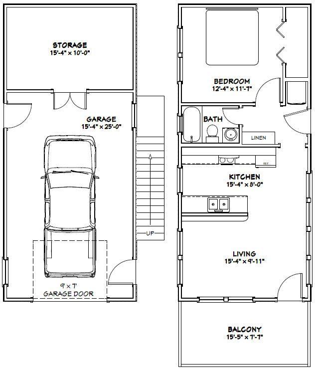 16x36 House -- #16X36H9K -- 744 sq ft - Excellent Floor Plans