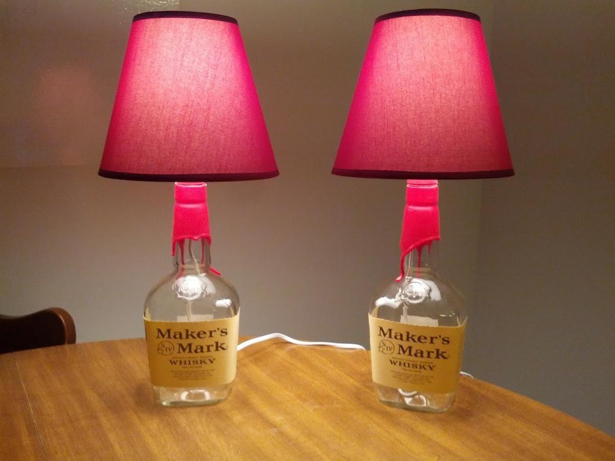 diy lmparas de botella