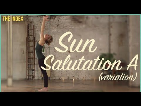 sun salutation a variation pose  yoga index explained