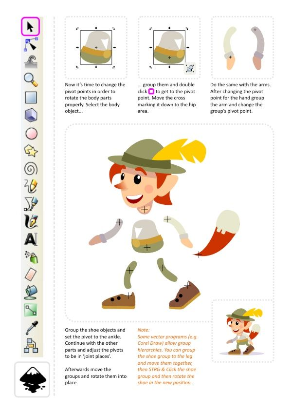 2d Game Character Design Tutorial : D game art for programmers creating a character