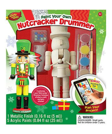 Another great find on #zulily! Paint Your Own Nutcracker Drummer Kit #zulilyfinds