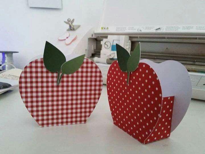 Cestinha maçã para o dia dos professores