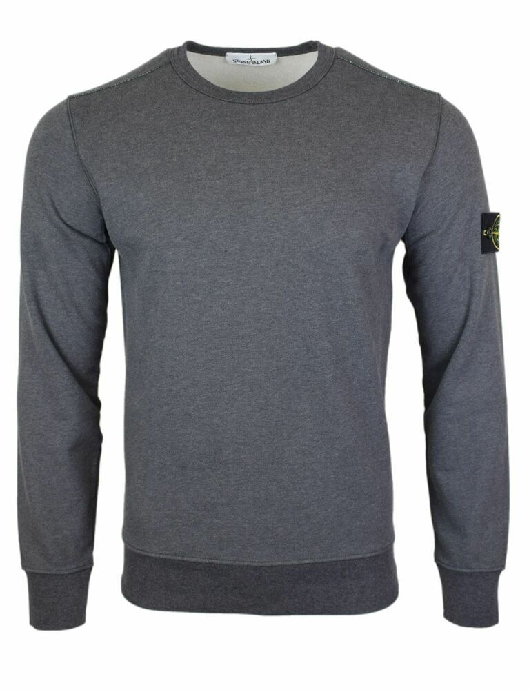 Details About Stone Island Ss19 Dark Grey Crew Neck Sweatshirt Bnwt Stone Island T Shirt Crew Neck Sweatshirt Sweatshirts