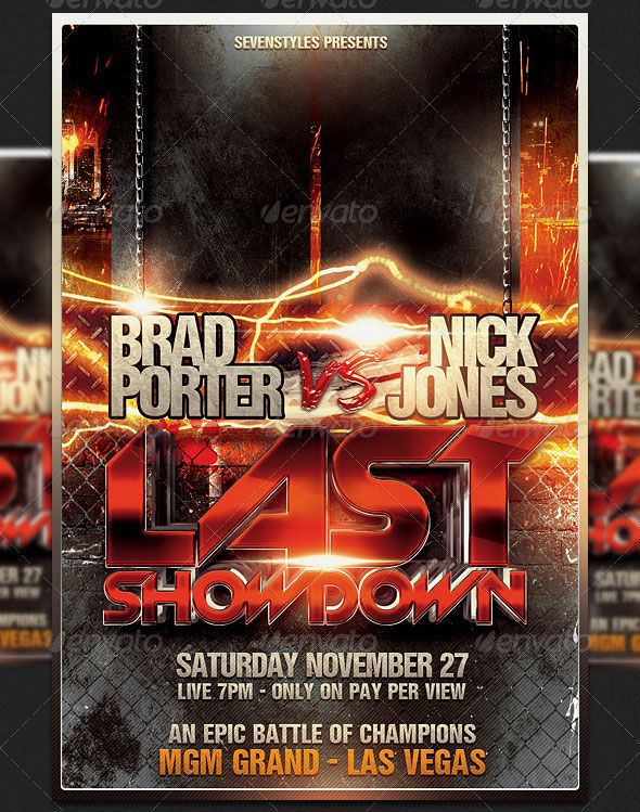 Showdown Flyer Template  Design Graphic    Flyer