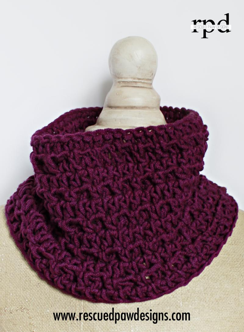 Textured Cowl - Crochet Pattern | Cuellos tejidos, Bufanda cuello y ...