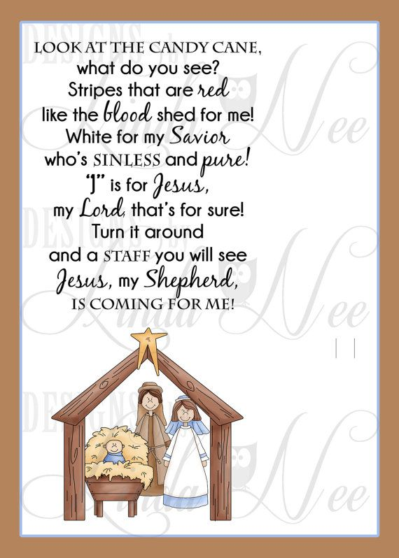 Legend of the Candy Cane Nativity, Card for Witnessing at ...