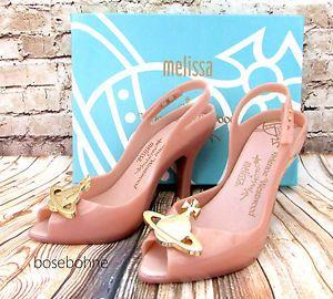 Melissa Lady Dragon XII Orb + Vivienne Westwood Anglomania Black Pink US 8  9 10