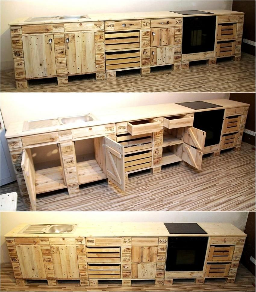 now come to the kitchen because there is no a single area in a home for which the pallets cannot. Black Bedroom Furniture Sets. Home Design Ideas