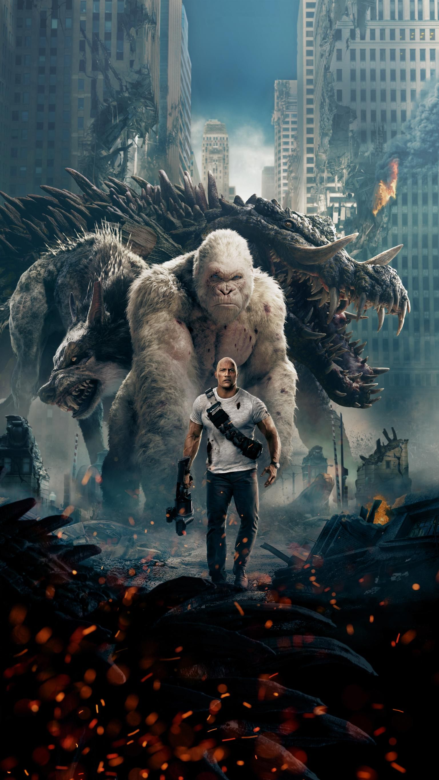Rampage 2018 Phone Wallpaper Moviemania Full Movies Online Free Movie Wallpapers Rampage Movie