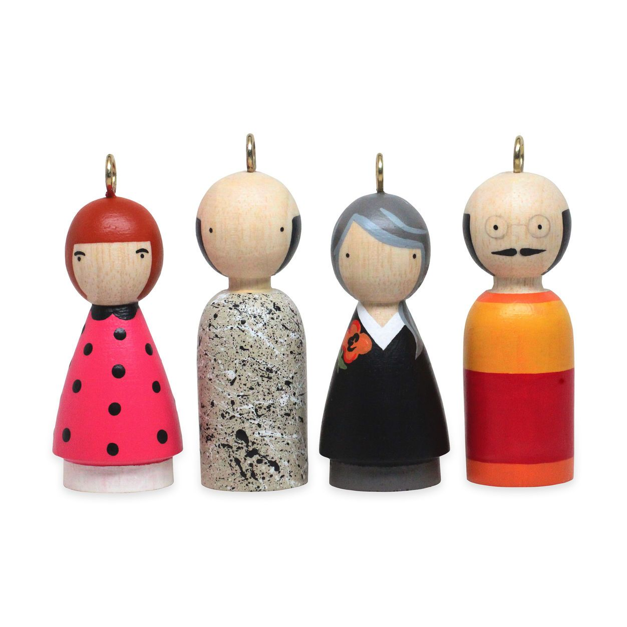 Artist Christmas Ornaments.Modern Artists Ornaments Set Ii In Color 3 5 H 36