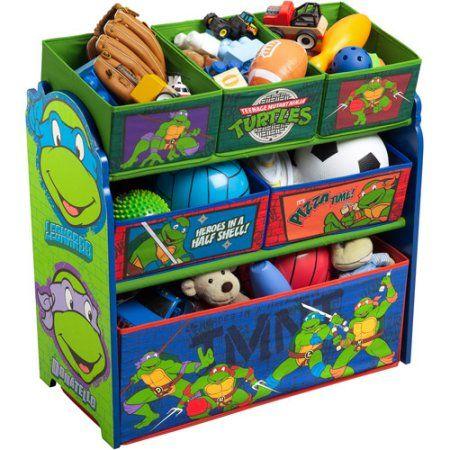 Teenage Mutant Ninja Turtles Multi Bin Toy Organizer By Delta Children Walmart Com In 2021 Toy Organization Ninja Turtle Room Ninja Turtle Bedroom