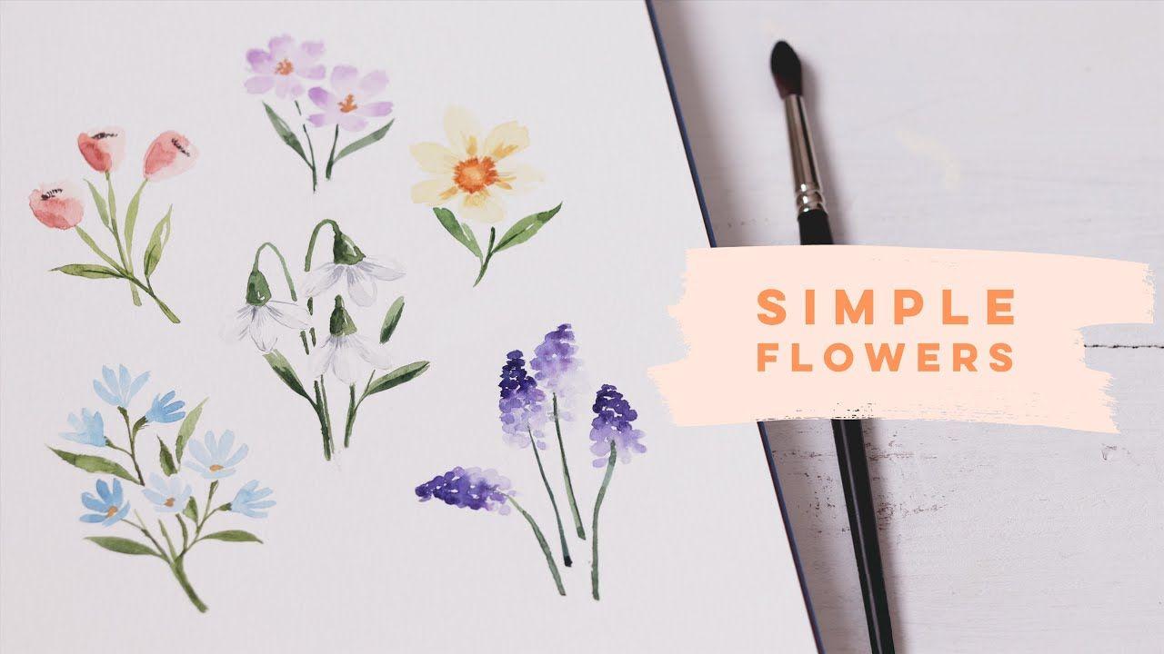 Beginner Watercolor Flowers Springtime Blooms Youtube In 2020 Watercolor Flowers Tutorial Watercolor Flowers Watercolor Flowers Paintings