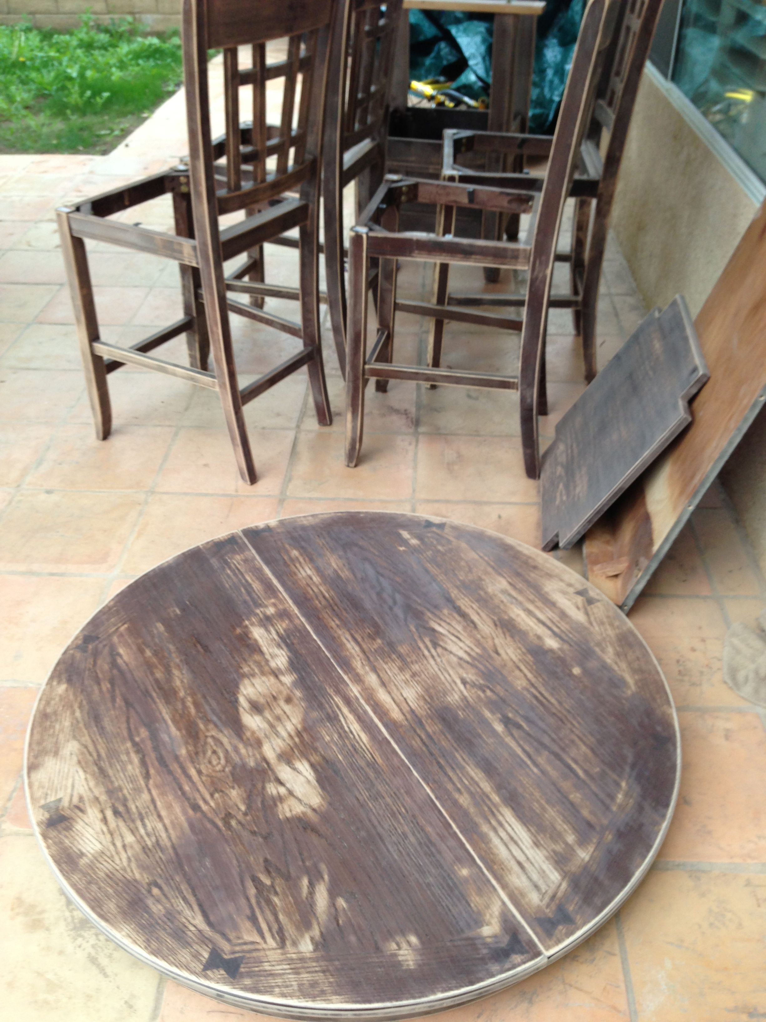 Eetkamertafel Circle Refinishing My Dining Room Table My Creative Projects