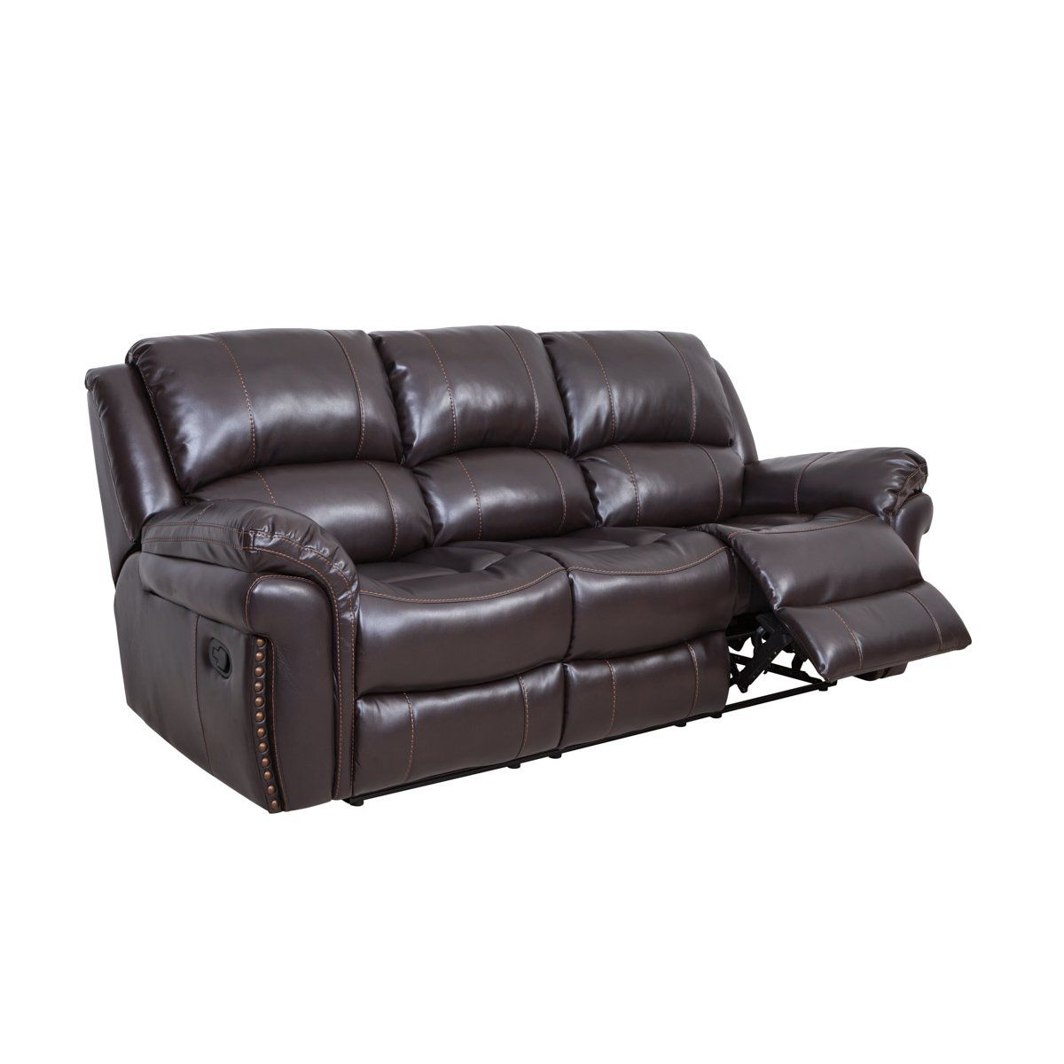 Comodaland luxury bonded leather sofaclassic living room reclining