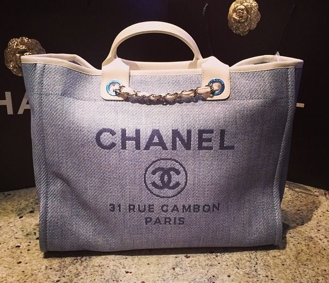 5f01c9cf58b2 Chanel blue beach bag | My Fashion wishlist | Pinterest | Beaches .