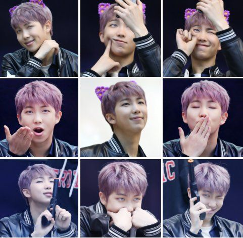 I Love Namjoon Purple Hair Btw I Have This Flower Cat Ears In My Headband Collection Rapmonster Namjoon Bts Rap Monster Namjoon Bts Hair Colors
