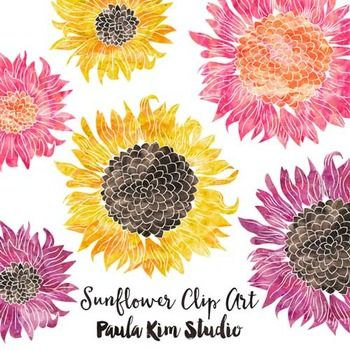 Free Clipart Watercolor Sunflowers Watercolor Sunflower Flower