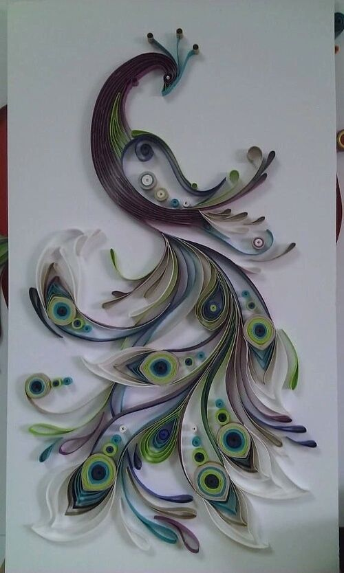 Inspiration Only   Upcycling   Toilet Paper Roll   Amazing Wall Art    Beautiful Peacock Part 40
