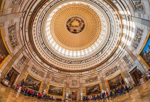 Under the United States Capitol Rotunda
