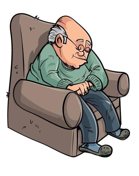 May 10 2014 Todays illustration Cartoon old man sleeping ...