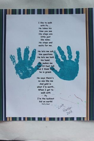 Father S Day Handprint Poem Father S Day Activities