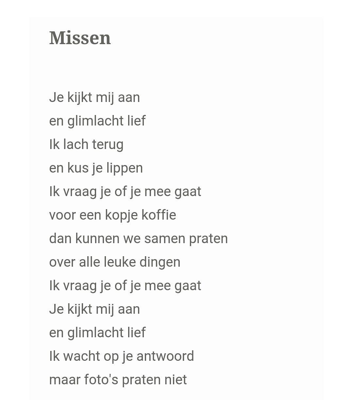 Verbazingwekkend Missen #missen #missing #gedicht #liefde #foto #herinnering CK-15