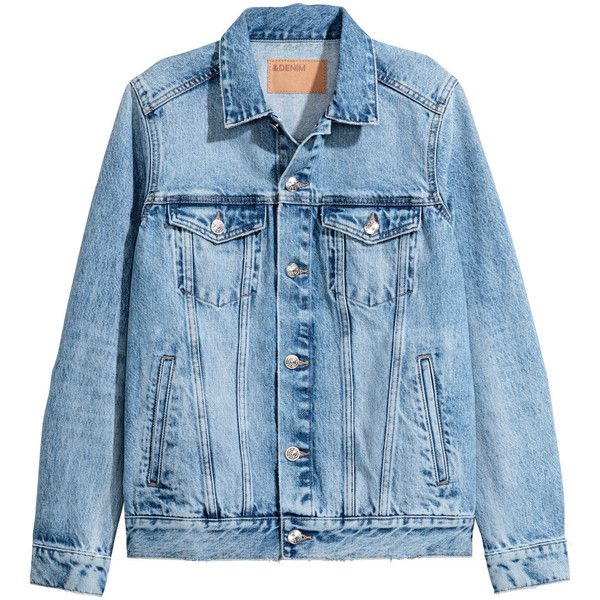 Denim Jacket $39.99 (€34) ❤ liked on Polyvore featuring outerwear, jackets, denim jackets, denim, distressed denim jacket, denim jacket, jean jacket, distressed jean jacket and blue jackets