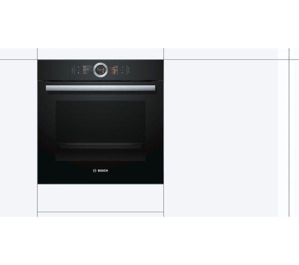 Bosch Serie 8 Hbg6764b6b Electric Smart Oven Black