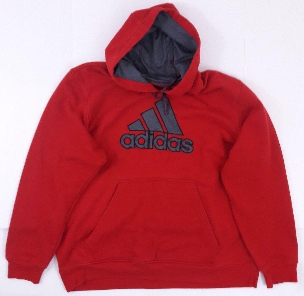 Sudadera con capucha capucha Adidas Mens Cofre 2XL 19932 Pullover Red Grey talla 2XL Cofre 84be5b8 - grind.website