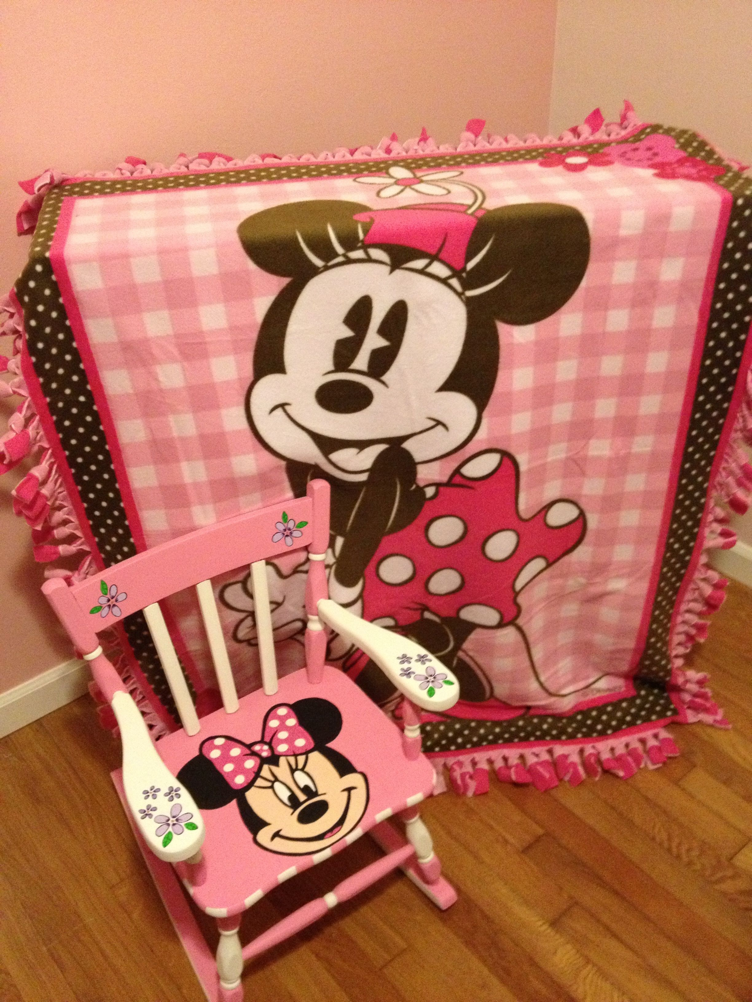 Ordinaire Inspired By My Lovely Daughter Who Loves Minnie Mouse! Hand Painted Minnie  Mouse Rocking Chair And Fleece So Soft Blanket.