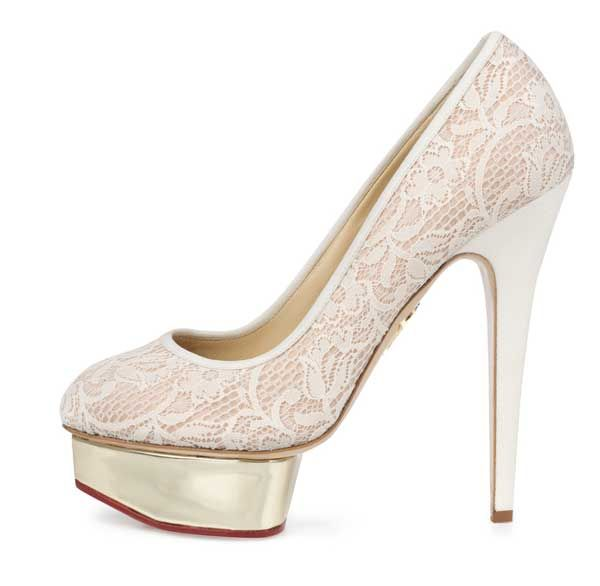 Charlotte Olympia Polly in White Lace, 212 872 8940