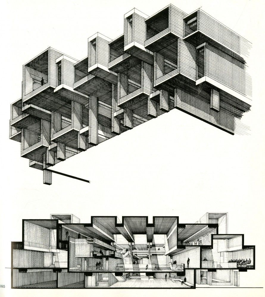 Paul Rudolph is part of architecture House Facade Front Doors - Completed in 1971 in Goshen, United States  Famous on all ends of the architectural spectrum, the Orange County Government Center takes Paul Rudolph's fundamental ideas of the houses he