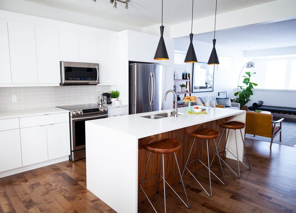 White And Walnut Kitchen