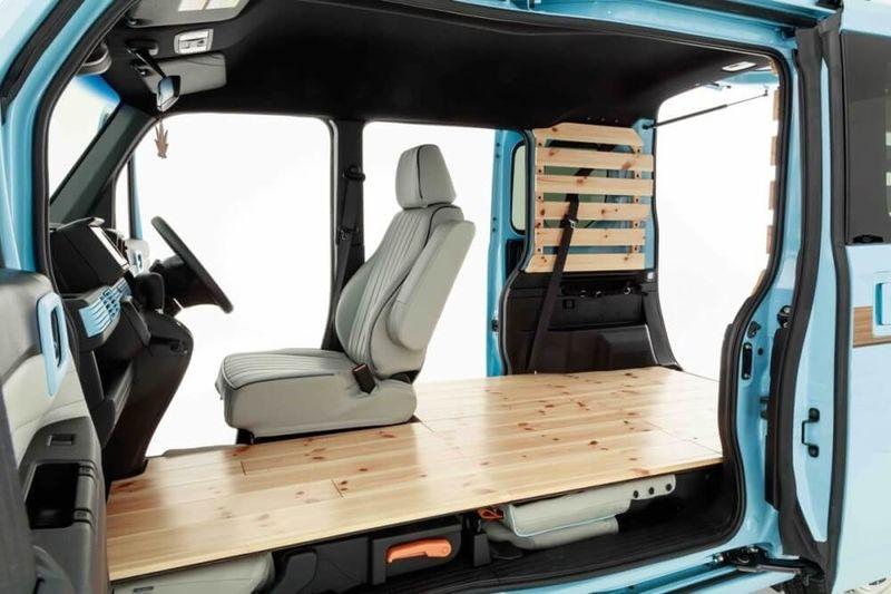 全15例 軽バンのおしゃれカスタムをまとめました スタイルも使用方法も十人十色 カエライフ クルマとカスタムで暮らしをカエるーcustom Enjoy Life 2021 軽バン 車 内装 Diy エブリィ 内装