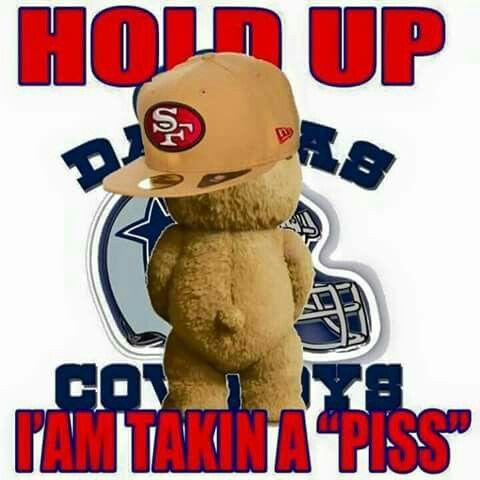 5f96bc69b21ce9cca755ce8e8afb9940 49ers fan ted peeing on cowboys logo san francisco 49er 4 life