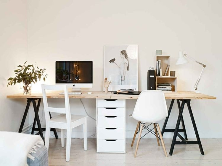 schreibtisch bauen f r zwei personen arbeitsplatz. Black Bedroom Furniture Sets. Home Design Ideas