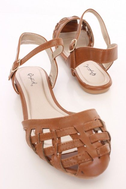 Rust Caged Closed Toe Sandals Faux Leather Sexy Clubwear