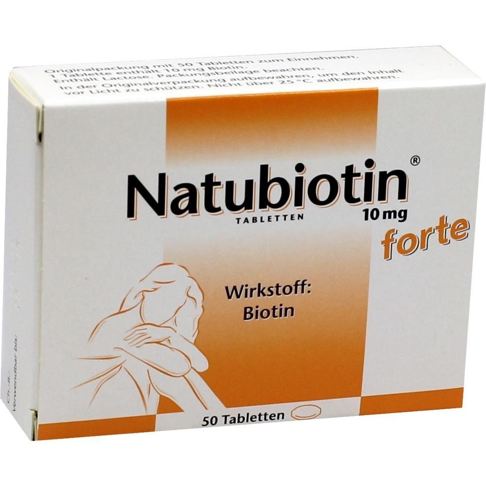 NATUBIOTIN 10 mg forte Tabletten:   Packungsinhalt: 50 St Tabletten PZN: 01259705 Hersteller: Rodisma-Med Pharma GmbH Preis: 14,95 EUR…
