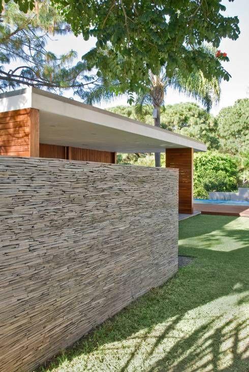 10 paredes de piedra espectaculares tipo de piedra Pinterest