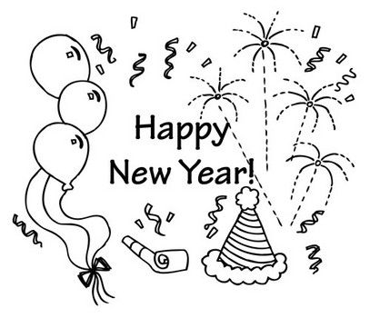 Free New Year S Eve Coloring Pages New Year Coloring Pages Coloring Pages Coloring Pages For Kids