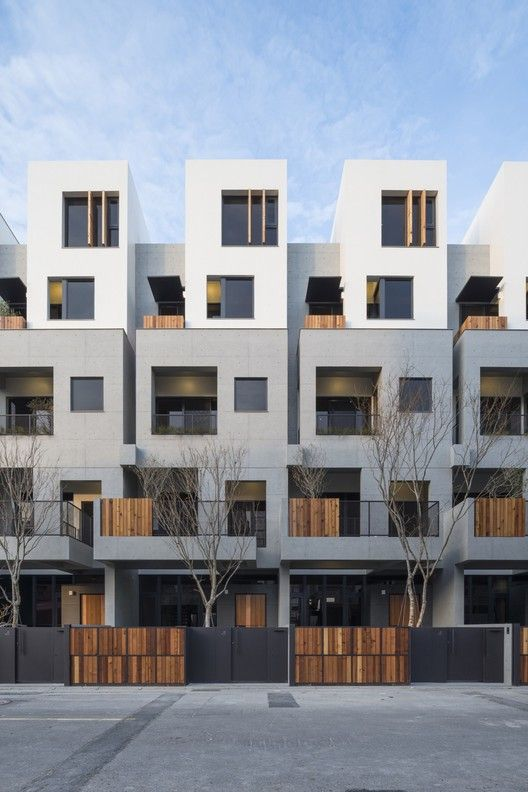 Light House Shen Ting Tseng Architects Modern Townhouse Facade House Apartment Architecture
