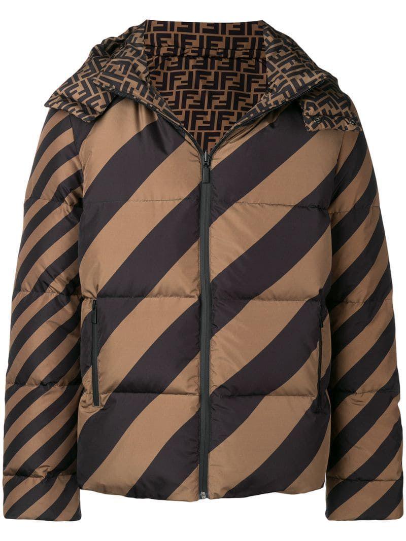 Fendi Logo Puffer Jacket Farfetch Jackets Fendi Clothes [ 1067 x 800 Pixel ]